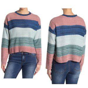 ABOUND Colorblock Striped Crew Neck Sweater